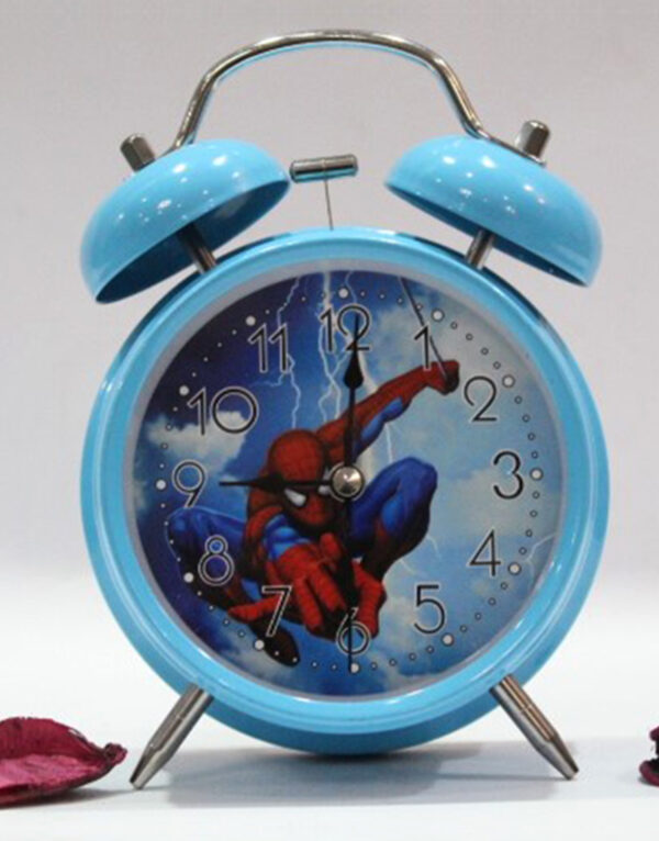 Frozen-And-Spider-Man-Vintage-Twin-Bell-Analog-Table-Alarm-Clock.1