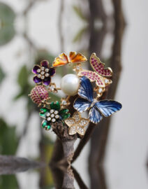 Unique Butterfly ring, Nature inspired ring in Multicolor for nature lovers.