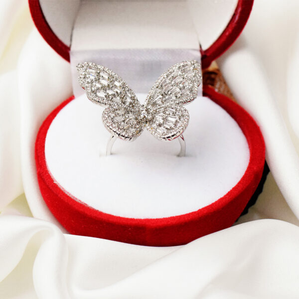 Adjustable Small Butterflies Rings Gold