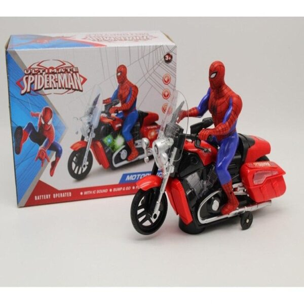 Spiderman Toy Motorcycle