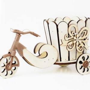 Wooden Carved Flower Bicycle