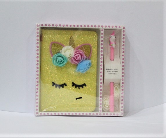 Unicorn Sequence Diary And Pen Gift Set For Girl.