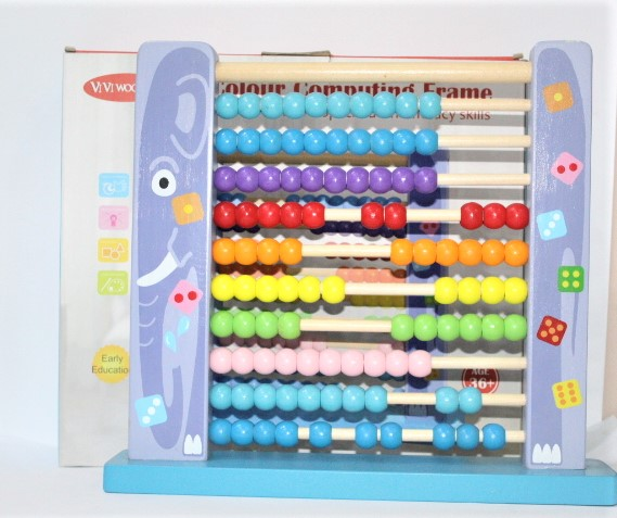 Colour Computing Frame Develop Child Numeracy Skill Early Eduction Age 3+ For Kids