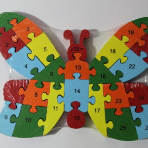 Butterfly Wooden Puzzle blocks ABC And 123.