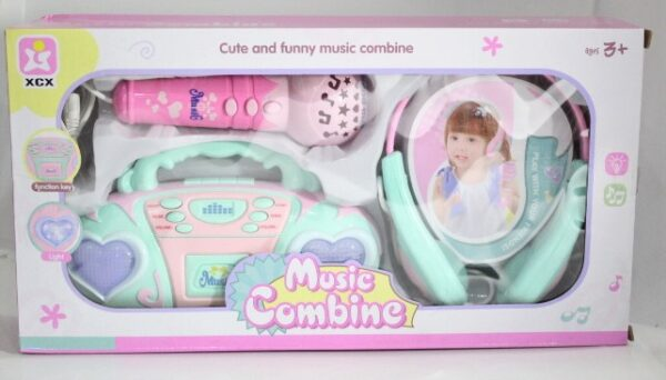 Music Combine Cute And Funny Music Combine 3 In 1 Earphone HI-Fi Microphone Sound Effects And Music Tape.