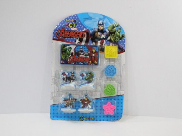 Superhero Stamp Set 4 Pc Stamp With Ink Pad For Kids.