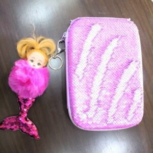 Sequence Pencil Pouch And Barbie Fish Toy For Girl.
