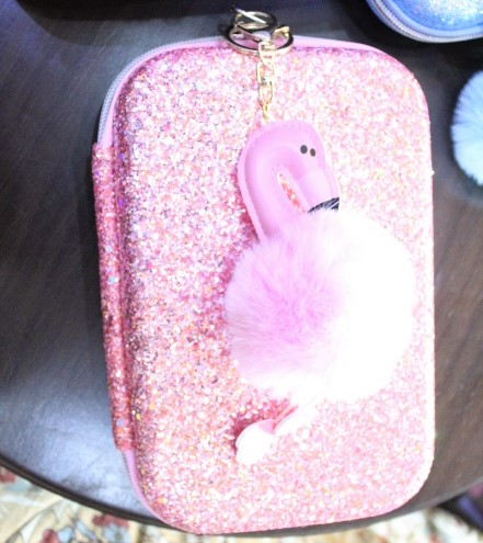 Pencil Pouch And Flamingo Toy For Girl.