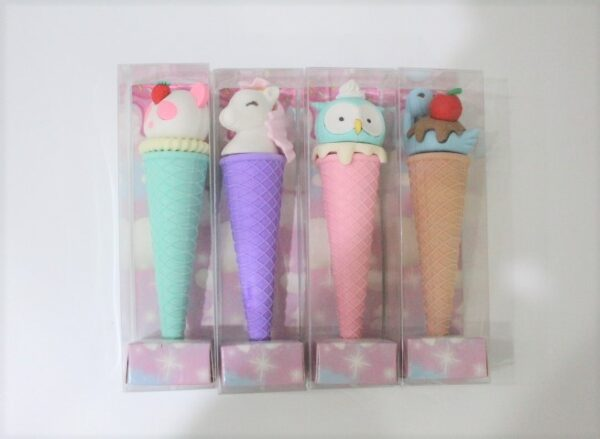 Characters Ice-cream Erasers For Kids Gift School Creative Stationery 180 Each.