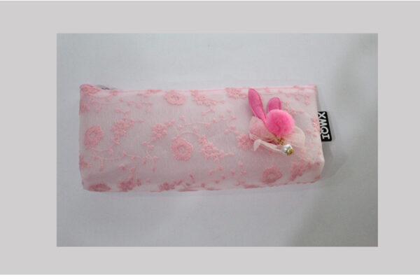 Embroidery Dress Pencil Case Stationery Pouch Cosmetic Bag.