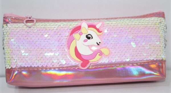 Unicorn Sequence Pencil Case Stationery Pouch Cosmetic Bag.