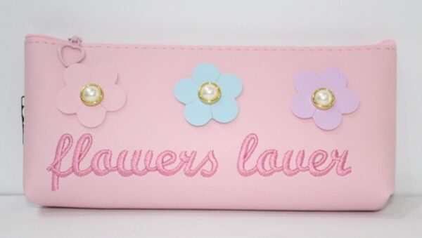 Flowers Lover Pencil Case Stationery Pouch Cosmetic Bag.
