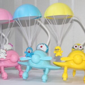 Hello Kitty Doraemon And Minions Table Lamps for room with Parachute Home Decoration Kids.