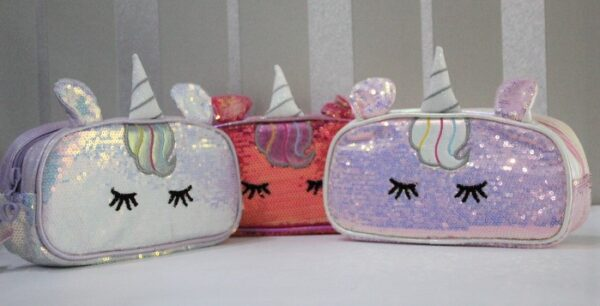 Unicorn Pencil Case Stationery Pouch Cosmetic Bag.