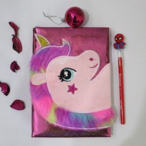 Soft Unicorn Journal With Led Pencil For Kids.