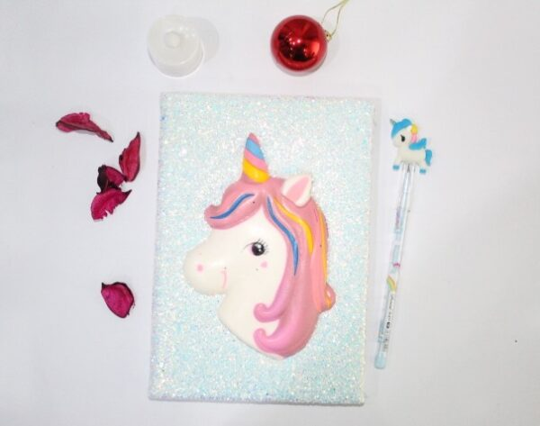 Unicorn Notebook Journal With Led Pencil For Kids.