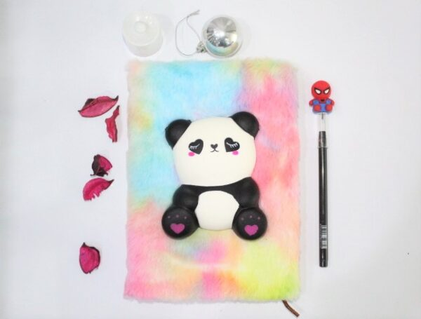 Cute Panda Notebook Journal With Led Pencil For Kids.