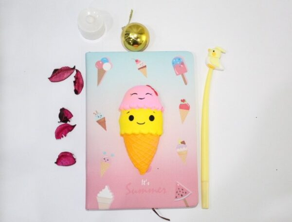 Ice Cream Notebook Journal With Gel Pen For Kids.