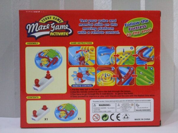 Maze Game Activate Tesy your Pulse And Manual Skills On This Moving Platform With A Remote Control.