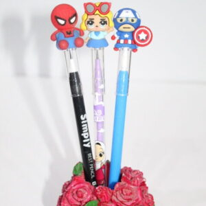 Cartoon Character Changing Lead Pencil.