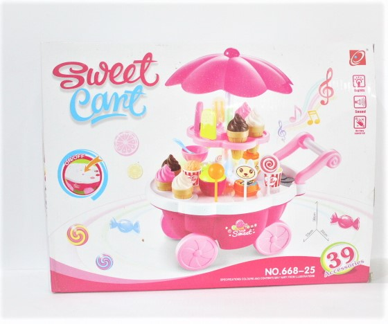 Snapdeal Skylare Mini Sweet Cant Candy Cart 39pcs Set With Light and Sound.