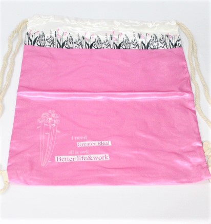 Back To School Pink Butterfly Heaven Bag Made In China 100 % polyester