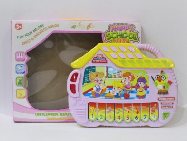 Musical Happy School piano keyboard Toy for kids over age of 3 years