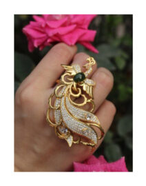 Long-Tail-Peacock-Ring-With-Green-Stone.