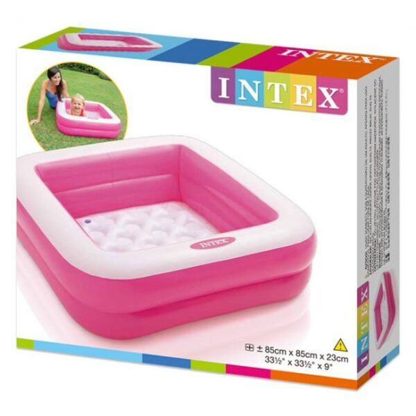 Planet X Intex - Double Layer Square Inflatable Play Box Child Pool (85 x 85 x 23 cm)