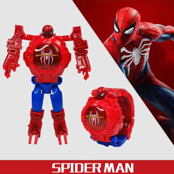 Superhero Action Figure Spider Man With Matching Watch.
