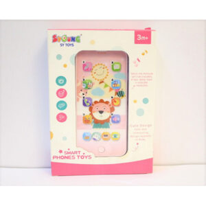 Educational Baby Toys Cellphone LED Music Baby Kids Learning Rechargeable Mobile Phone Toys With Usb Cable for Charging And Mobile Cover.