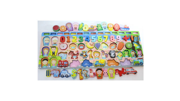6 IN 1 Fish Game Toy Puzzle Toys Kids Fishing Rod Set
