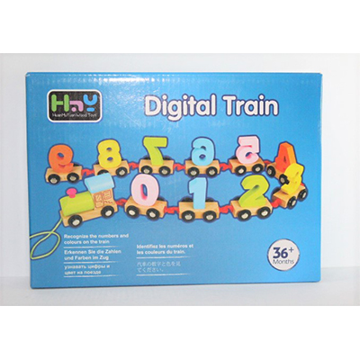 Digital Number Train Toy Set Wooden Fun Learning Building Blocks Early Educational Kids 3+ Years